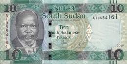 SOUDAN SOUTH 10 POUNDS 2016 UNC P 7 C - Soudan