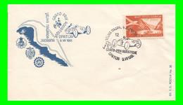 FDC 12° Grand Prix Adriatique Opatija, 9 Giugno 1961 Grand Lotteria Adriatica Jugoslavia Abbazia FPoštanska Povijest - Automobili