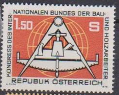 Österreich 1978 Nr.1579 ** Postfr. Kongreß Des Intern.Bundes Der Bau-u. Holzarbeiter ( 4049)günstige Versandkosten - 1971-80 Neufs