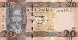 SOUDAN SOUTH 20 POUNDS 2016 UNC P New - Soudan