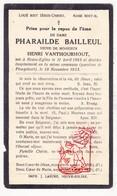 DP Pharailde Bailleul ° Nieuwkerke Neuve-Eglise 1865 † Ploegsteert 1933 X H. VanThourhout - Images Religieuses