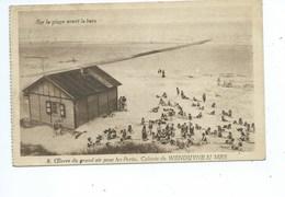 Wenduine Oeuvre Royale Du Grand Air Pour Les Petits - Colonie De Wenduyne - Sur La Plage Avant Le Bain - Wenduine