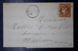 France: Lettre Complete Lassay GC 1973 ->  Mayenne Yv Nr 48 1871 - 1870 Bordeaux Printing