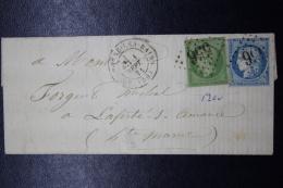 France: Eveloppe Bourbonne Les Bains GC 556 Premier Jour Du Changement De Tarif A 25 C 1871  RRR - 1870 Bordeaux Printing