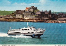 Postcard Hydrofoil Condor 1 Passing Elizabeth Castle Jersey By John Hinde My Ref  B22944 - Ferries
