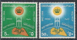 1964 LIBIA REGNO ANNIVERSARIO UNIFICAZIONE MNH ** - RR12473 - Libia