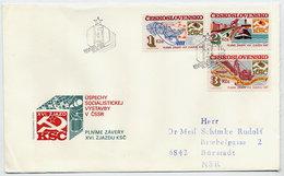 CZECHOSLOVAKIA 1984 Socialist Construction On FDC.  Michel 2786-88 - FDC