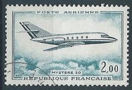 1965 FRANCIA USATO POSTA AEREA MYSTERE 20 - FR836 - 1960-.... Oblitérés