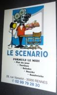 Carte Postale - Le Scenario (Bar - Restaurant) Rennes (illustration : Castan) - Advertising