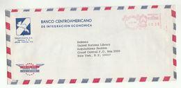 1979 Honduras BANCO CENTROAMERICANO DE INTEGRATION ECONOMICA To UNITED NATIONS USA Meter Stamps COVER Un Bank Advert - Honduras