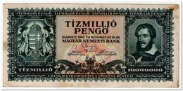HUNGARY,10 000 000 PENGO,1945,P.123,VF - Hongarije
