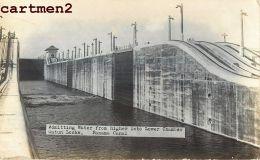 PHOTO CARD : PANAMA CANAL GATUN LOCKS BOAT BARRAGE - Panama