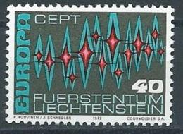 1972 EUROPA LIECHTENSTEIN MNH ** - EV-2 - 1972