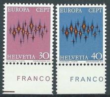 1972 EUROPA SVIZZERA MNH ** - EV-3 - Europa-CEPT