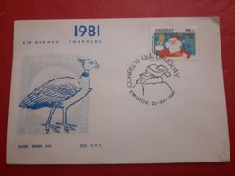 L'Uruguay FDC Un Noël 1981 - Kerstmis