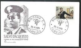 1975 ITALIA FDC CAPITOLIUM - SALVO D'ACQUISTO - NO TIMBRO ARRIVO - IT7 - FDC
