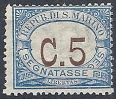 1925 SAN MARINO SEGNATASSE 5 CENT MNH ** - RR12045 - Segnatasse