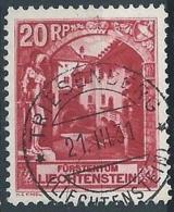 1930 LIECHTENSTEIN USATO SOGGETTI DIVERSI 20 R - LT005 - Oblitérés