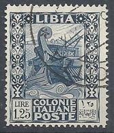 1931 LIBIA USATO PITTORICA E SIBILLA LIBICA 1,25 LIRE - RR12685-4 - Libya