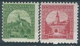 1933 CECOSLOVACCHIA CHIESA CRISTIANA DI NITRA MH * - CZ012 - Cecoslovacchia