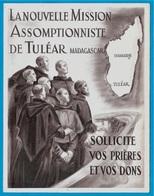 Dépliant (3 Volets) La Nouvelle MISSION ASSOMPTIONNISTE De TULEAR Madagascar ...Religion Catholique * Ch. Plessard - Non Classés