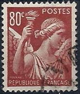 1939-41 FRANCIA USATO IRIS 80 CENT - FR658 - 1939-44 Iris