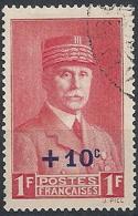 1941 FRANCIA USATO MARESCIALLO PETAIN SOPRASTAMPATO - FR661 - France