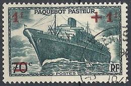 1941 FRANCIA USATO PIROSCAFO PASTEUR - FR662 - Frankreich