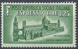 1944 RSI ESPRESSO DUOMO DI PALERMO MNH ** - RR12025 - 4. 1944-45 Repubblica Sociale