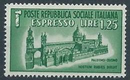 1944 RSI ESPRESSO DUOMO DI PALERMO MNH ** - RR13728-3 - 4. 1944-45 Repubblica Sociale