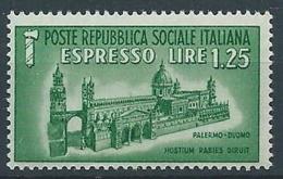 1944 RSI ESPRESSO DUOMO DI PALERMO MNH ** - RR13730 - 4. 1944-45 Repubblica Sociale