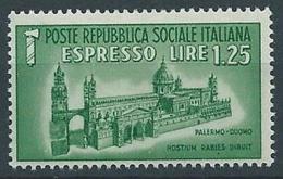 1944 RSI ESPRESSO DUOMO DI PALERMO MNH ** - RR13730-2 - 4. 1944-45 Repubblica Sociale