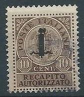 1944 RSI USATO RECAPITO AUTORIZZATO 10 CENT - RR13708-3 - 4. 1944-45 Repubblica Sociale