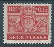 1945 SAN MARINO SEGNATASSE 15 CENT MH * - RR3986 - Segnatasse
