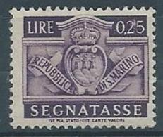 1945 SAN MARINO SEGNATASSE 25 CENT MNH ** - RR3986 - Segnatasse