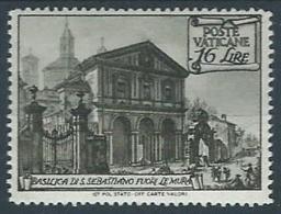 1949 VATICANO BASILICHE 16 LIRE MH * - RR13351 - Vatican