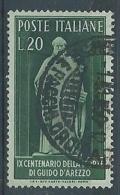 1950 ITALIA USATO GUIDO D'AREZZO - RR4330 - 6. 1946-.. República