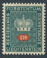 1950 LIECHTENSTEIN FRANCOBOLLI DI SERVIZIO 1,20 F MNH ** - LT030 - Official