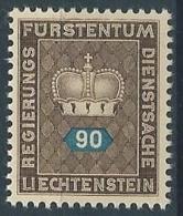 1950 LIECHTENSTEIN FRANCOBOLLI DI SERVIZIO 90 R MNH ** - LT031 - Official
