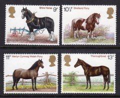 GREAT BRITAIN GB - 1978 HORSES SET (4V) FINE MNH ** SG1063-1066 - Unused Stamps