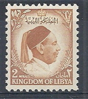 1952 LIBIA REGNO EFFIGIE RE IDRISS 2 M MNH ** - RR12615 - Libia