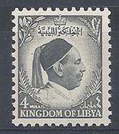 1952 LIBIA REGNO EFFIGIE RE IDRISS 4 M MNH ** - RR12615 - Libia