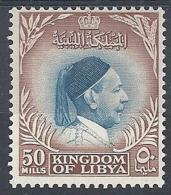 1952 LIBIA REGNO EFFIGIE RE IDRISS 50 M MH * - RR12615 - Libia