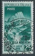 1953 ITALIA USATO FESTA DELLA MONTAGNA - RR13408 - 6. 1946-.. República