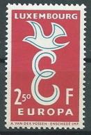 1958 EUROPA LUSSEMBURGO 2,50 F MNH ** - EV - Europa-CEPT