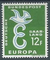 1958 EUROPA SARRE 12 F MH * - EV - Europa-CEPT