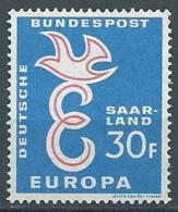 1958 EUROPA SARRE 30 F MNH ** - EV - Europa-CEPT