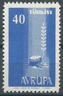 1958 EUROPA TURCHIA 40 K MNH ** - EV-2 - Europa-CEPT