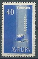 1958 EUROPA TURCHIA 40 K MNH ** - EV-3 - Europa-CEPT