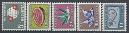 1959 SVIZZERA PRO PATRIA 5 VALORI MNH ** - SZ163 - Pro Patria